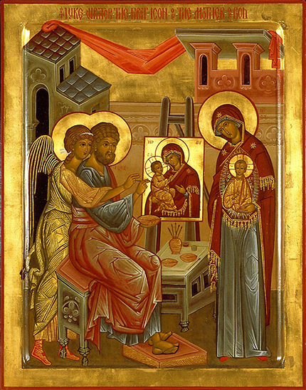 St. Luke painting Christ and the Theotokos